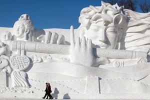 Sneeuwsculptuur