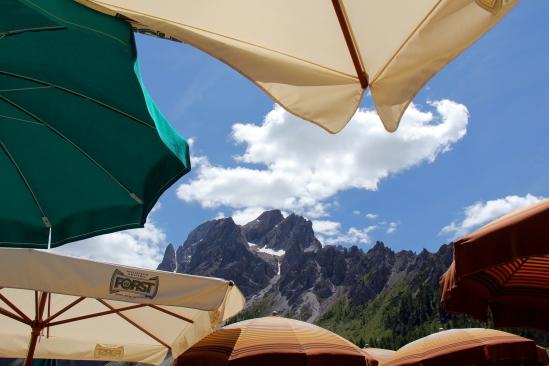 Terras met uitzicht - Sexten, Italie - 06|2015